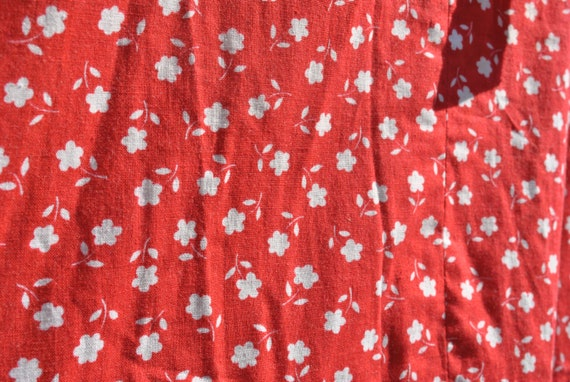 Cottagecore skirt, vintage 70s praerie cotton ski… - image 9