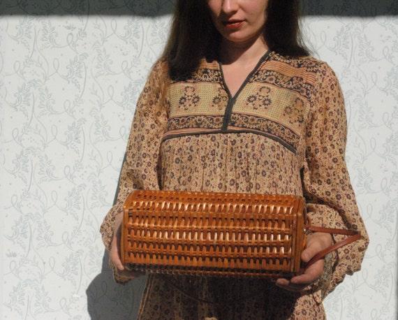 Wicker bag, wicker purse, large wicker handbag - image 8