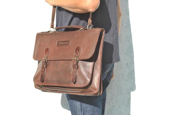 Messenger bag men, leather crossbody messenger bag