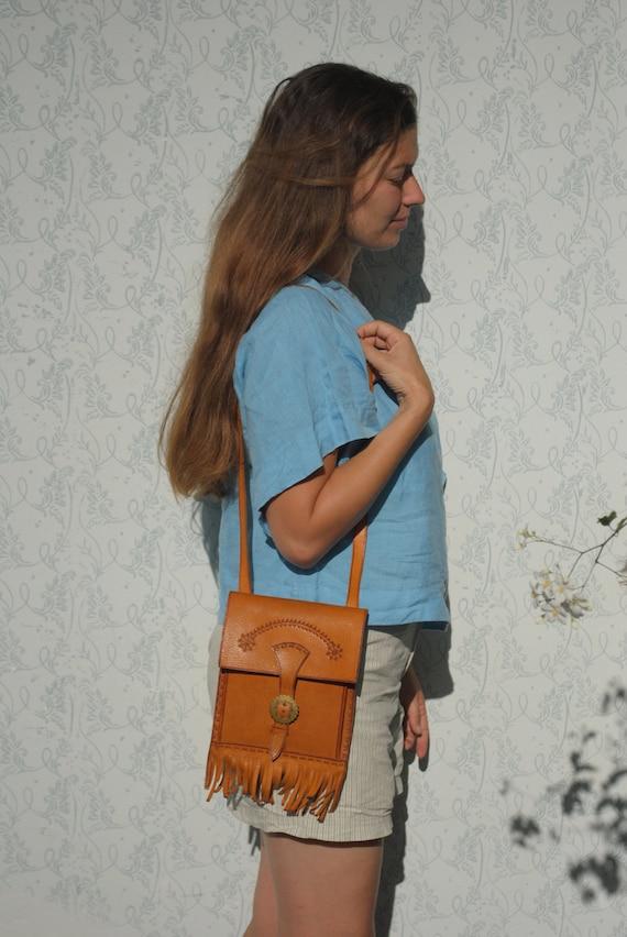 Festival bag, festival pouch, small leather purse,