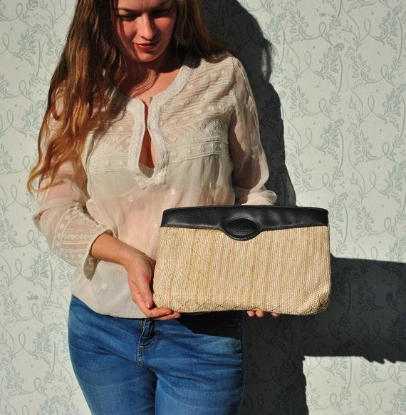 Straw clutch, straw bag, summer bag, straw handbag