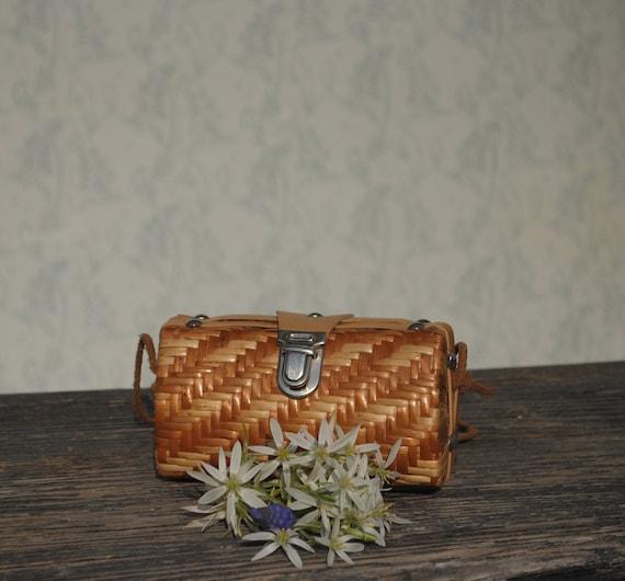Wicker purse, wicker bag, small wicker purse, smal