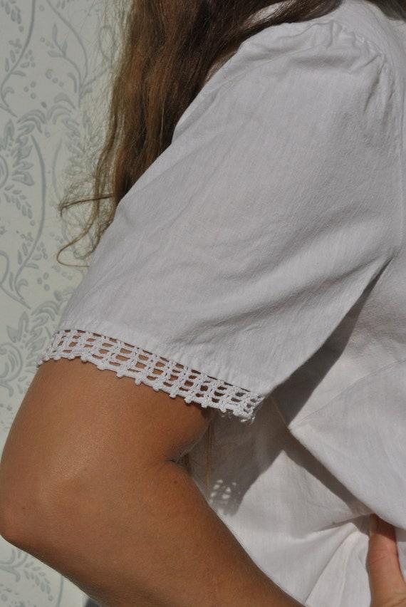 Crochet blouse, handmade blouse, vinatge crochet … - image 3