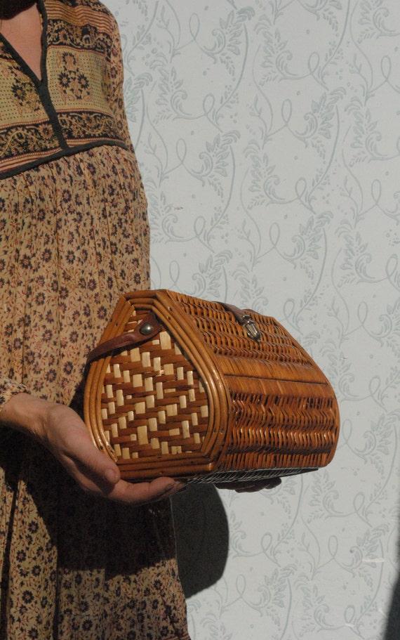 Wicker bag, wicker purse, large wicker handbag - image 7