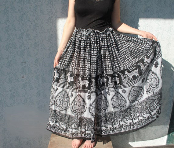 Maxi skirt, maxi skirt for women, Indian maxi ski… - image 2