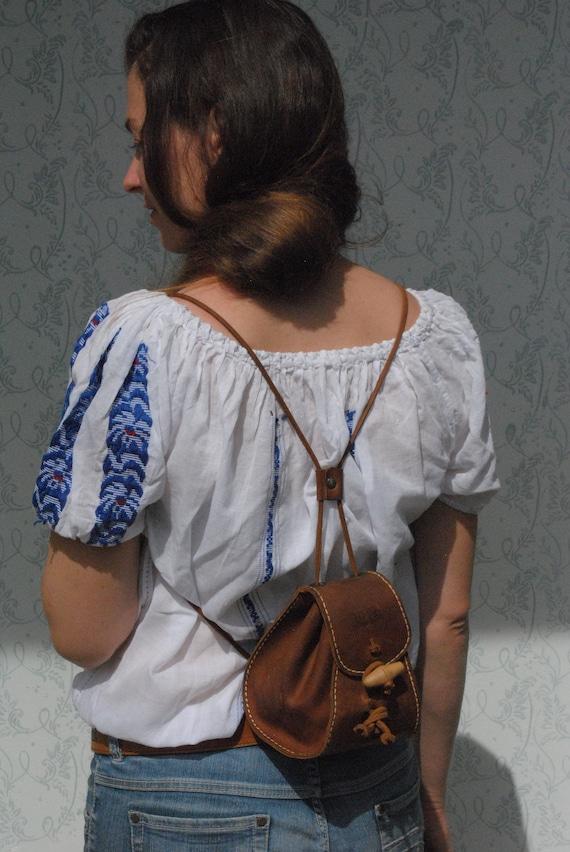 Mini backpack, backpack women, backpack purse, lea