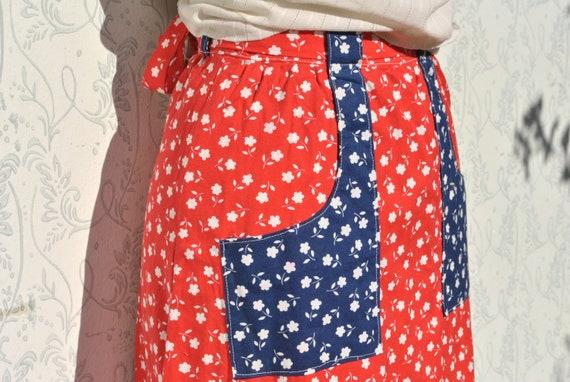 Cottagecore skirt, vintage 70s praerie cotton ski… - image 2