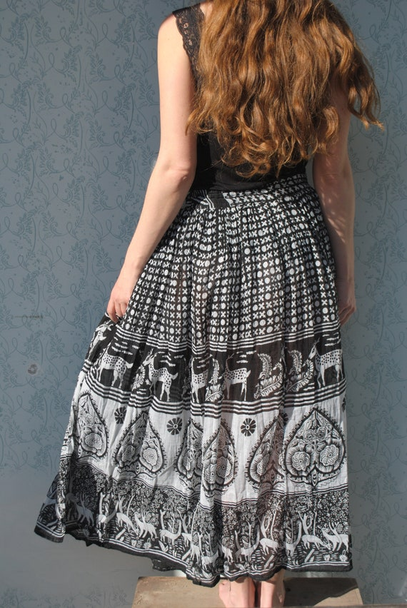 Maxi skirt, maxi skirt for women, Indian maxi ski… - image 7