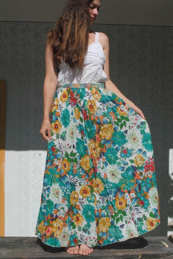 Maxi skirt women, floral maxi skirt, summer maxi s