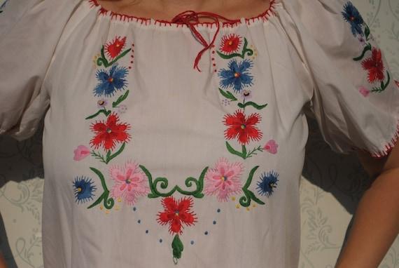 Peasant blouse, bohemian clothing, indie top