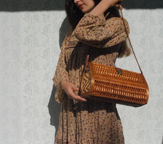 Wicker bag, wicker purse, straw bag, summer bag, w