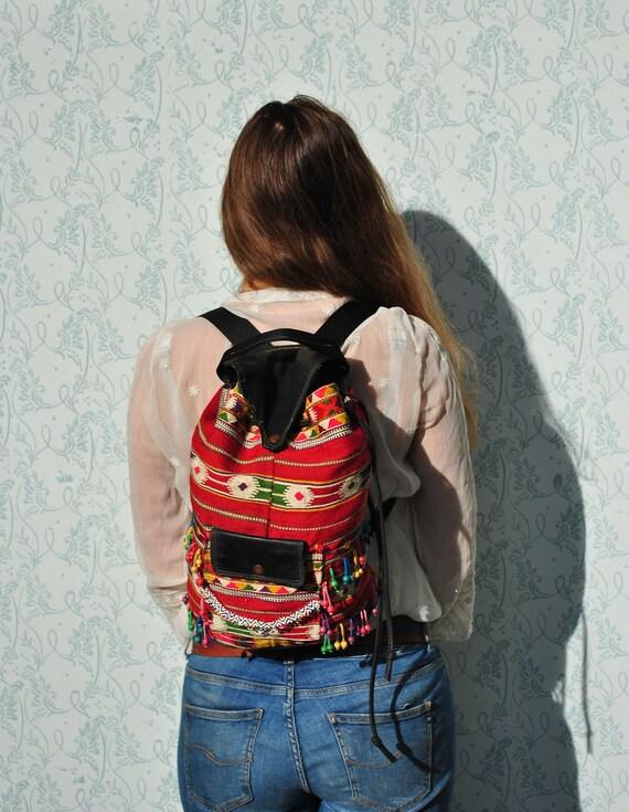 Backpack women, woman backpack, vintage backpack,