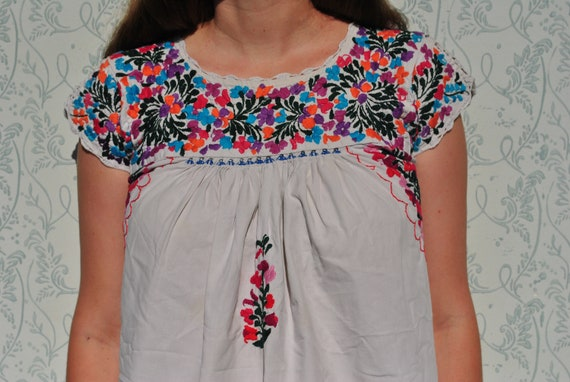 clothing dress tunic dress embroidered Mexican embroidered dress bohemian dress Mexican tunic boho folk summer embroidered boho dress qRzFIaw