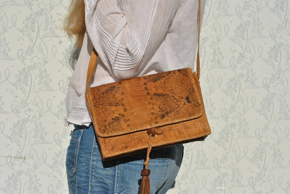 Snakeskin leather bag, purses and bags, snakeskin