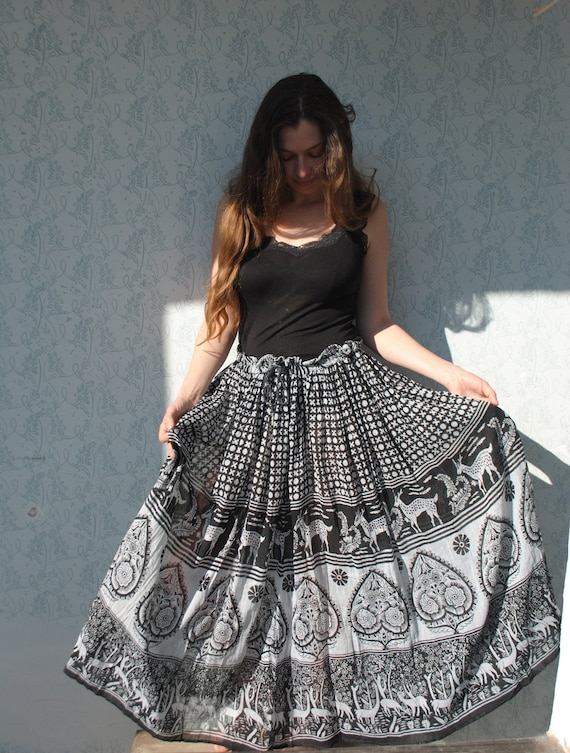 Maxi skirt, maxi skirt for women, Indian maxi ski… - image 9