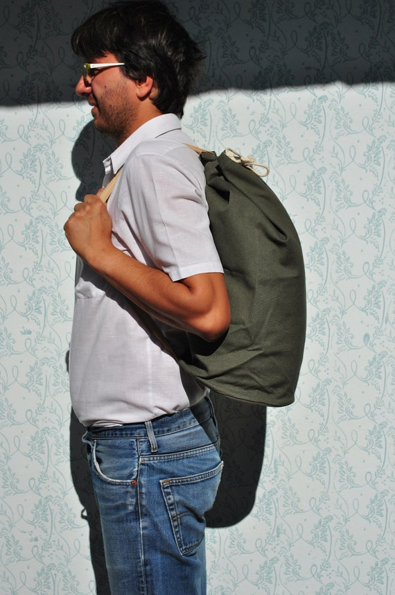 Roll backpack, roll bag, canvas bag, canvas backpa