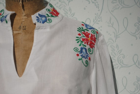 Embroidered shirt, embroidered blouse, peasant blo