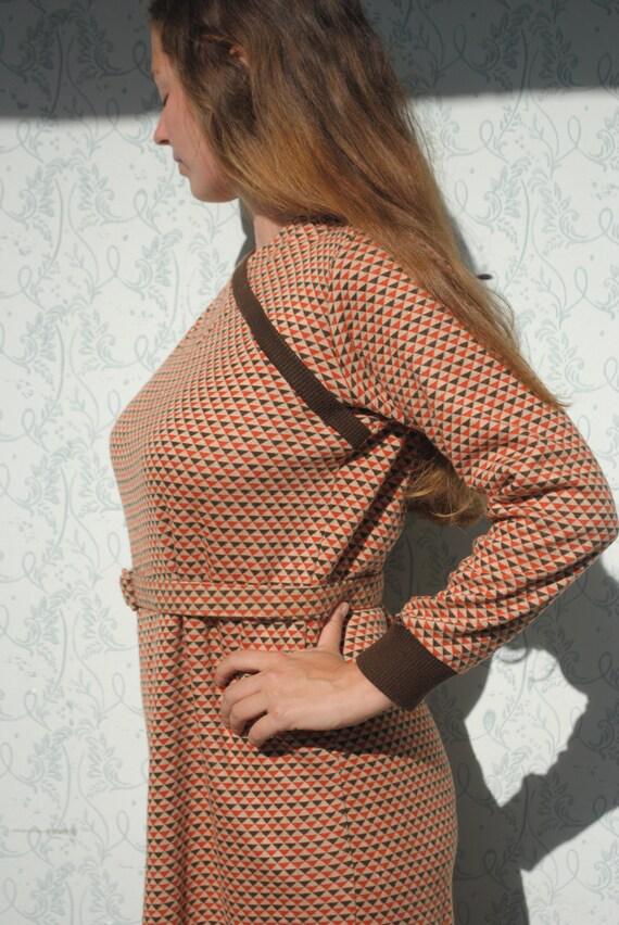 Winter dress, long sleeve dress, wool dress with b