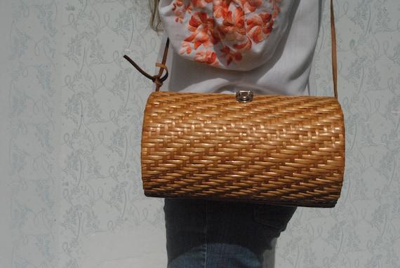 Wicker basket, wicker purse, basket bag, bag women