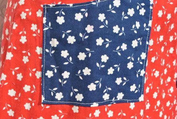 Cottagecore skirt, vintage 70s praerie cotton ski… - image 4