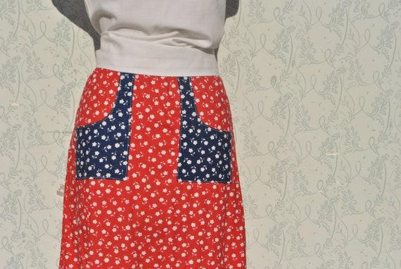 Cottagecore skirt, vintage 70s praerie cotton ski… - image 6