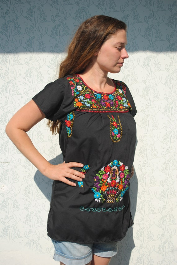 Mexican dress, Mexican blouse, Mexican dress, Mexi