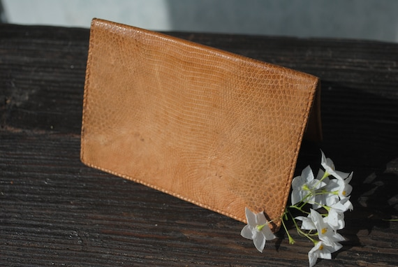 Handmade leather wallet, thin wallet for women