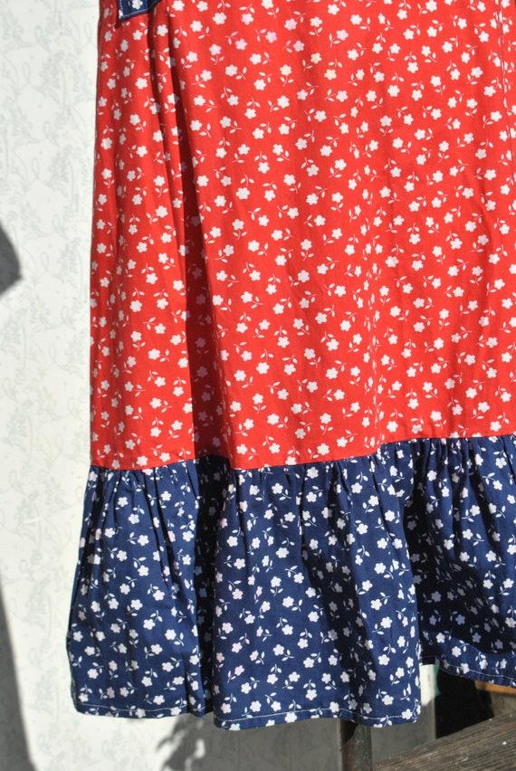Cottagecore skirt, vintage 70s praerie cotton ski… - image 3