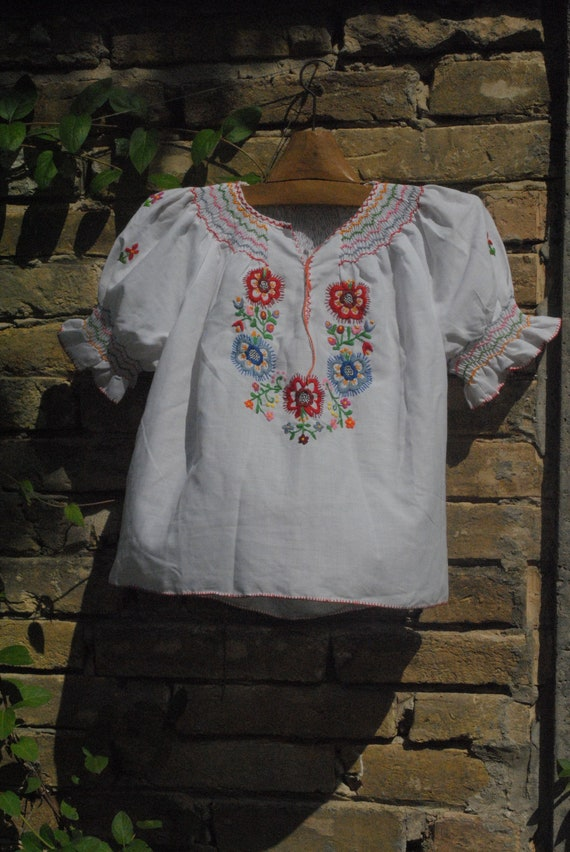 Hungarian blouse, embroidered blouse, peasant blou