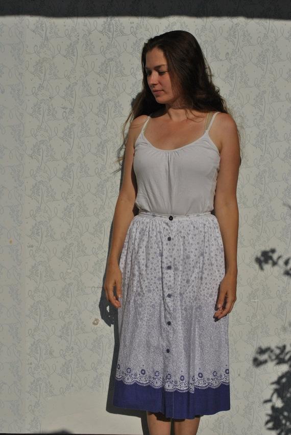 Cottagecore skirt, cottagecore clothing, vintage b