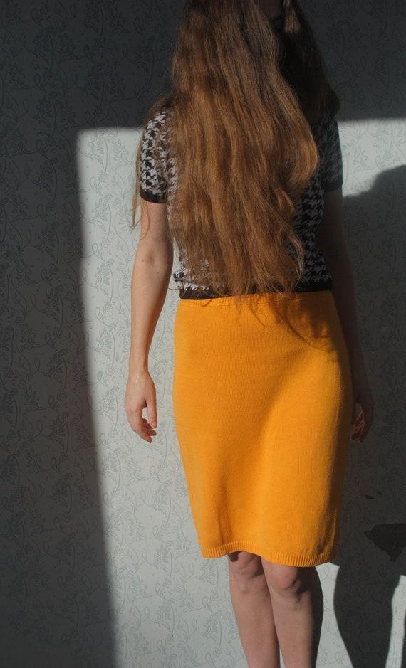 MARIMEKKO skirt, knitwear skirt, vintage midi skir