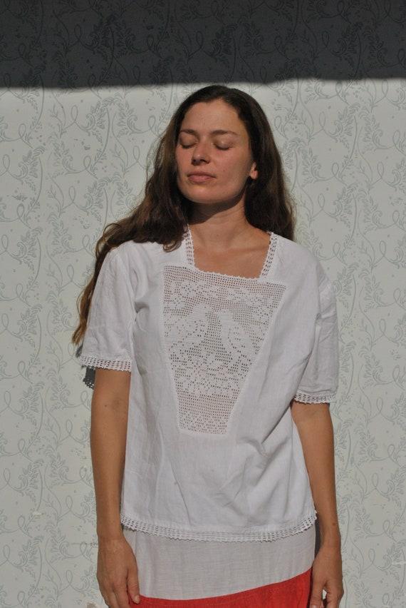 Crochet blouse, handmade blouse, vinatge crochet … - image 4