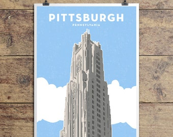 Cathedral of Learning, Pittsburgh Pennsylvania, Art Print