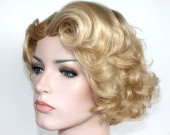 Blonde short curly wig. Golden hair. Cosplay hair. made to order. 50e504494