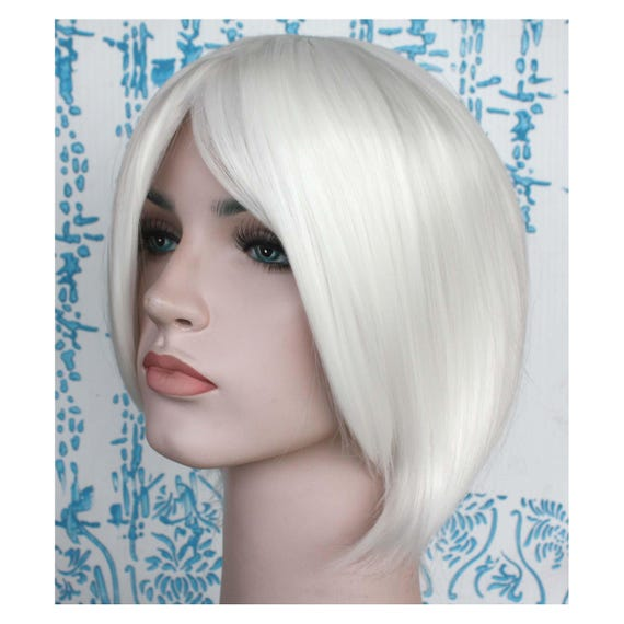 White Short Wig Short White Hair High Quality Smooth Wig Etsy