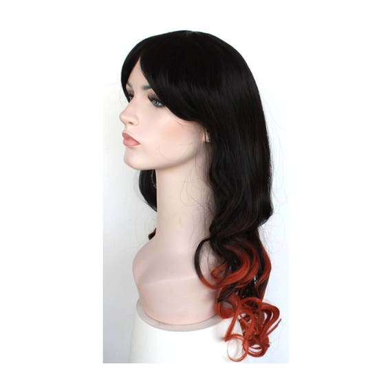 Long curly black and red orange wig. high quality wig. ready  e74bd118b