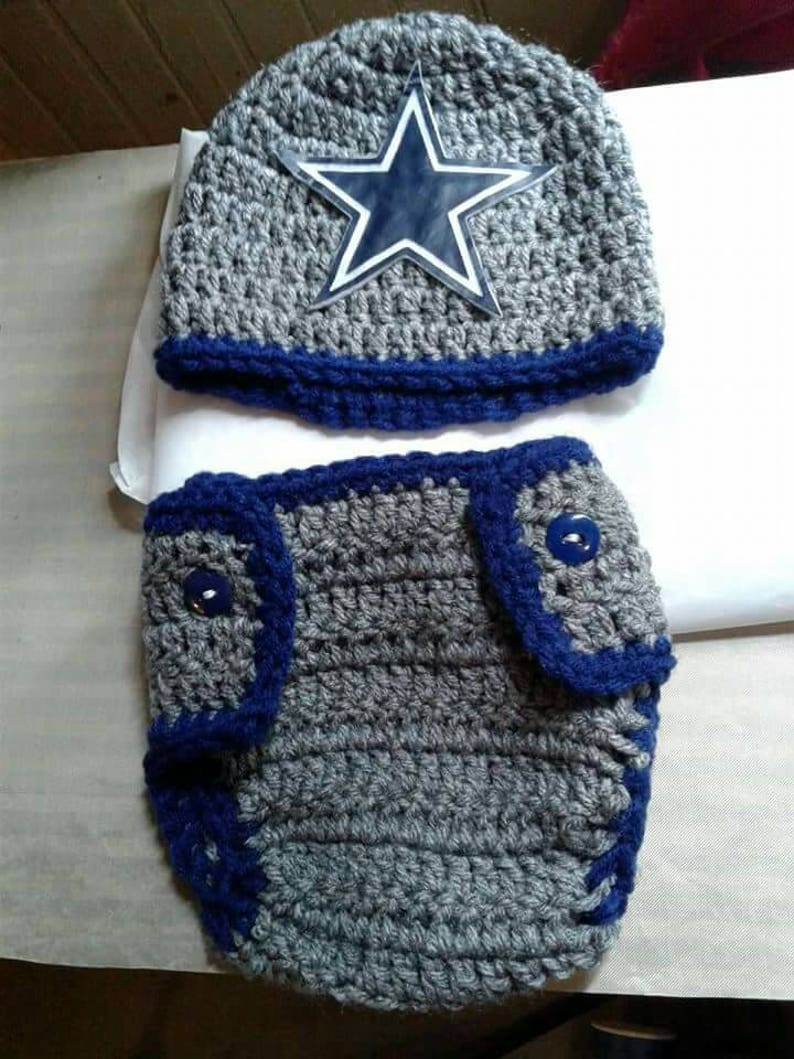 8a9e339e5c5d Dallas inspired crochet baby hat and diaper cover outfit | Etsy