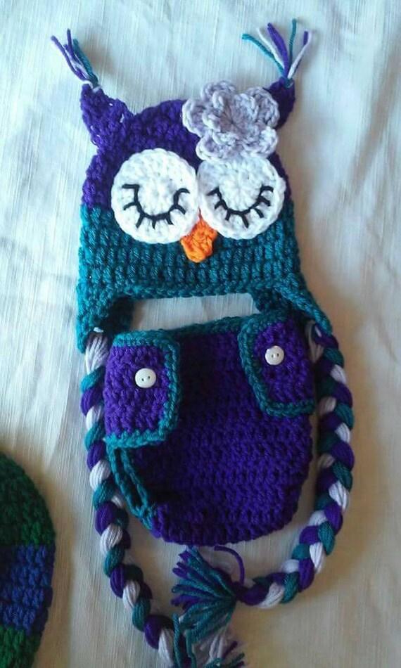 Owl Diaper Cover Set