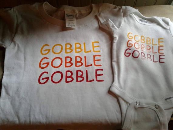289ac98c8 GOBBLE GOBBLE GOBBLE Thanksgiving onesie Thanksgiving baby   Etsy