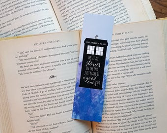 We are all stories - Tardis - Doctor Who - Bookmark