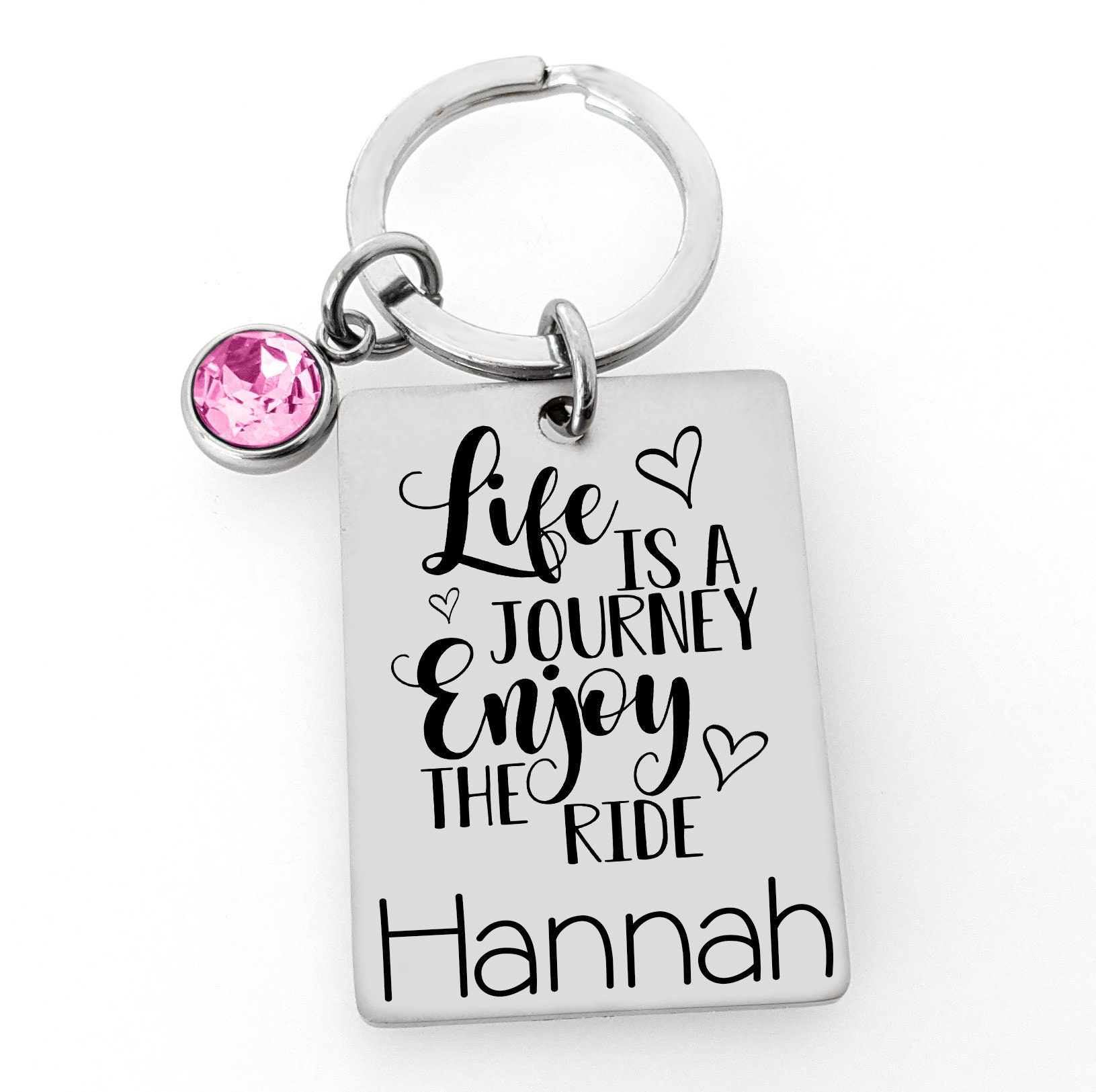 Life is a Journey Sweet 16 Birthday Gift for Teenager Sweet 16 Keychain 3 design options Personalized Sweet 16 Keychain Drive Safe