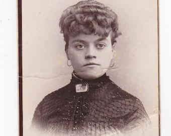 Victorian Cabinet Card Photo - Damaged but Cool