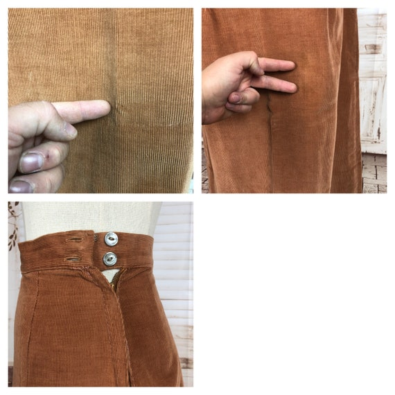 Original 1940s 40s Vintage Rust Corduroy Summer S… - image 9