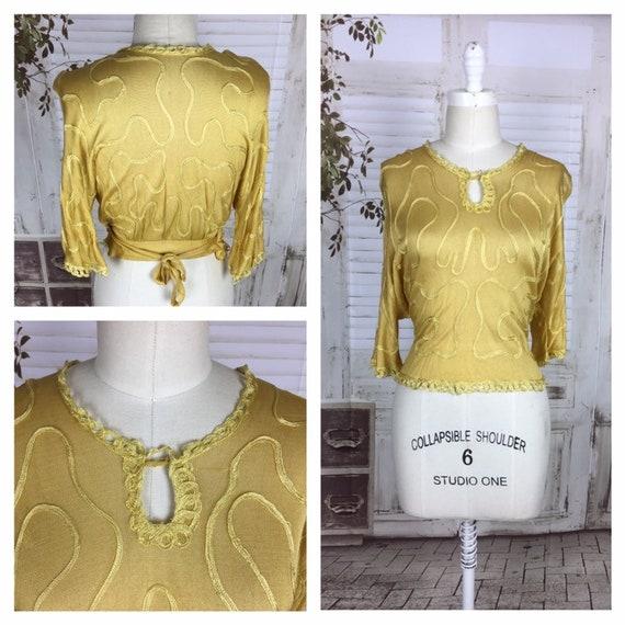 Original 1920s Gold Mustard Yellow Silk Vintage To