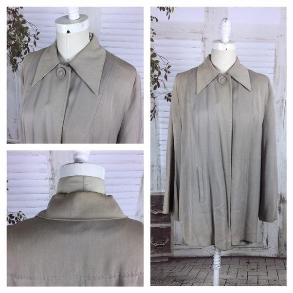 Original 1940s Vintage Gabardine Grey Swing Coat