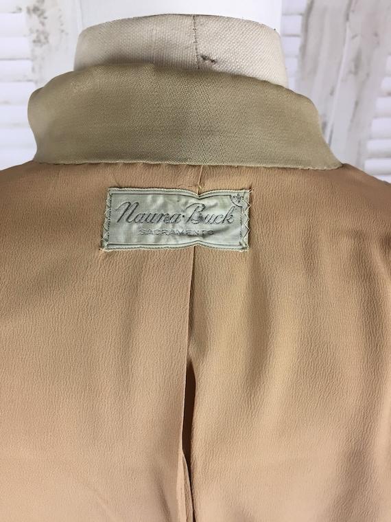 Original 1940s Beige Arrow Gabardine Skirt Suit - image 5