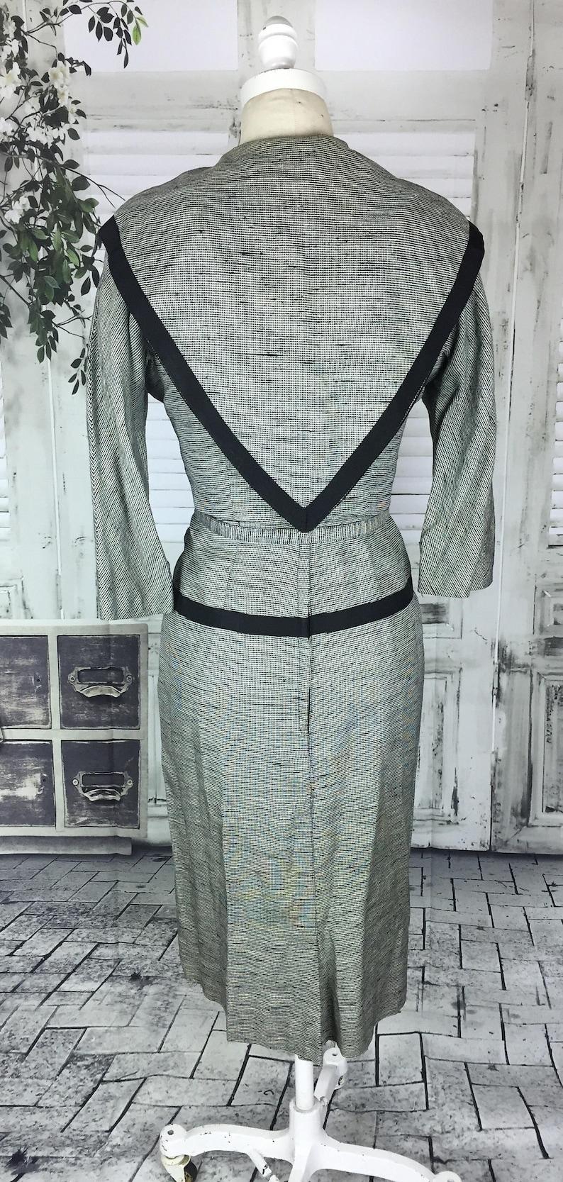 Original Vintage 1950/'s Black /& White Dress Suit