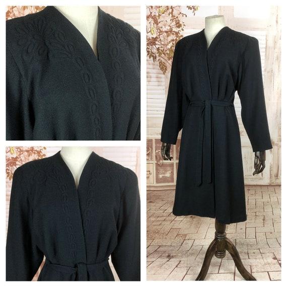 Incredible Original 1940s 40s Vintage Black Belted