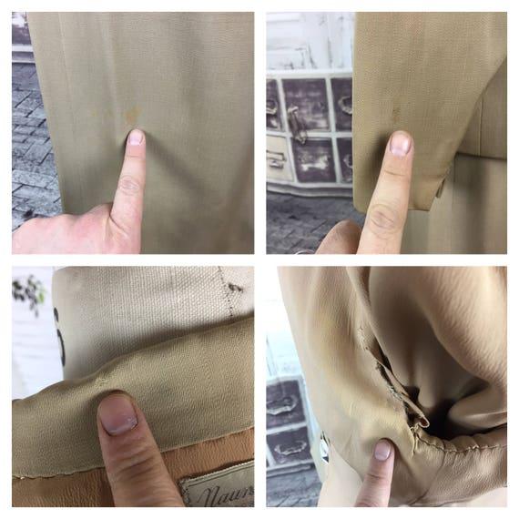 Original 1940s Beige Arrow Gabardine Skirt Suit - image 10