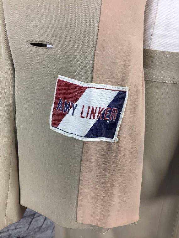Original 1940s Beige Arrow Gabardine Skirt Suit - image 7